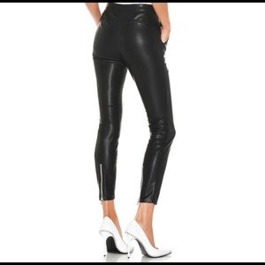 Blanknyc 25 faux leather pants with zipper back